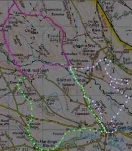 Three 4-5 mile routes