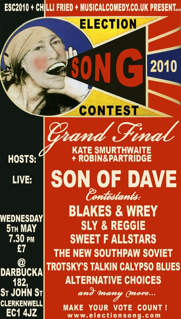 Election Song Contest flyer